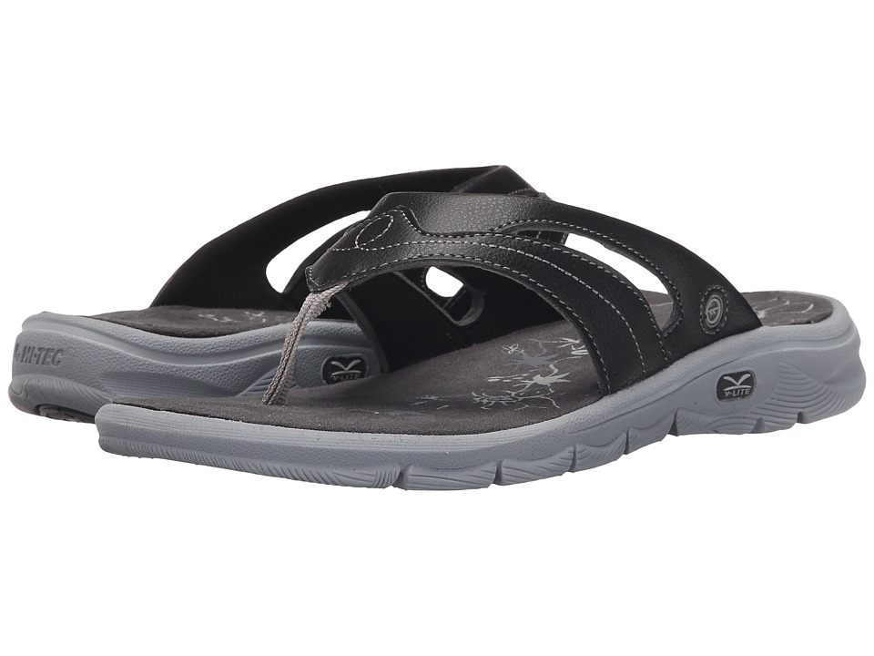 Hi-Tec Soul-Riderz Toe Post (Black/Charcoal/Grey) Women
