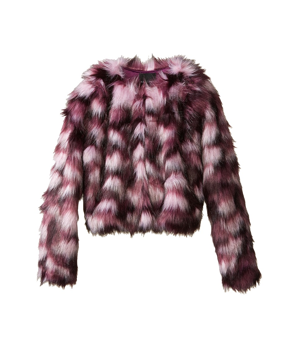 Marciano Kids - Crop Fur Jacket (Big Kids) (Purple) Girl