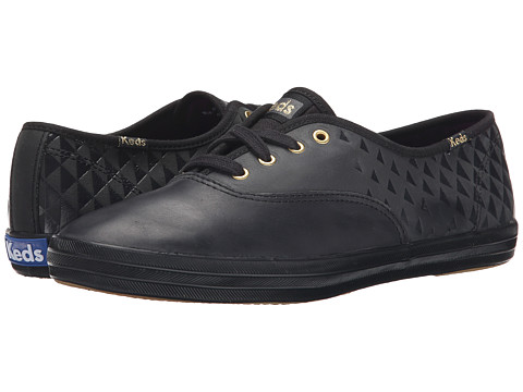 Keds - Champion Embossed Leather (Black) Women