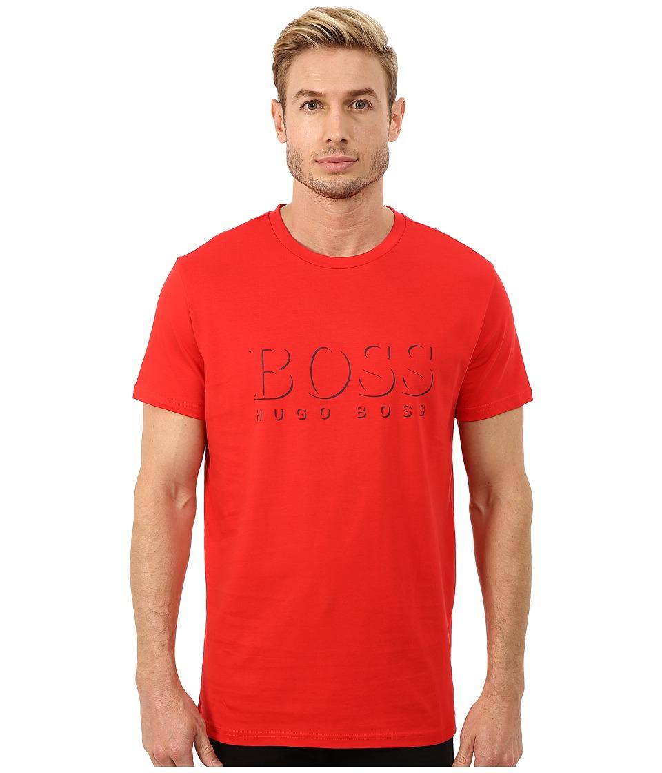BOSS Hugo Boss - Short Sleeve Crew BM 10144 Boss Logo SPF Tee (Red) Men's Swimwear