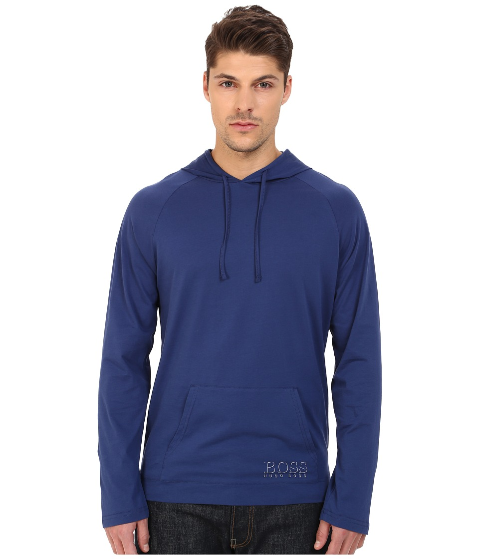 BOSS Hugo Boss - Long Sleeve Hooded Shirt 1018 (Navy 2) Men's Swimwear