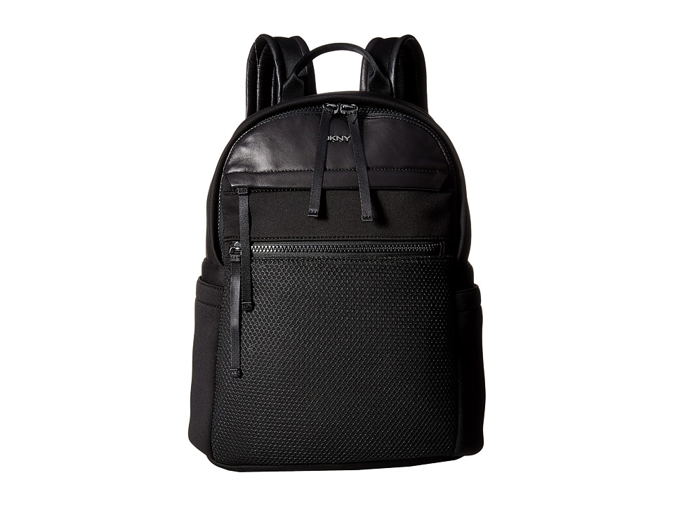 DKNY - Neoprene Large Backpack (Black) Backpack Bags