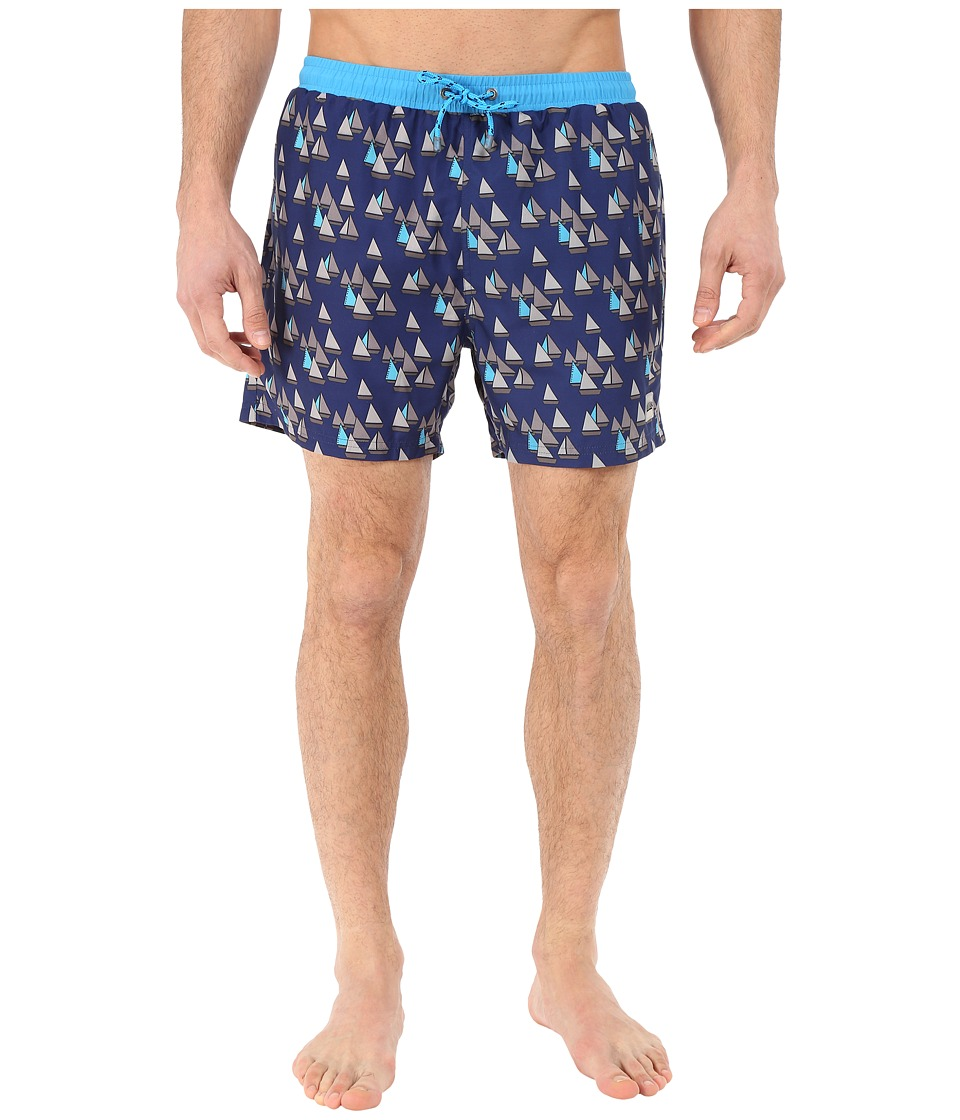BOSS Hugo Boss - Piranha 10135293 06 Swim Trunk (Open Blue) Men