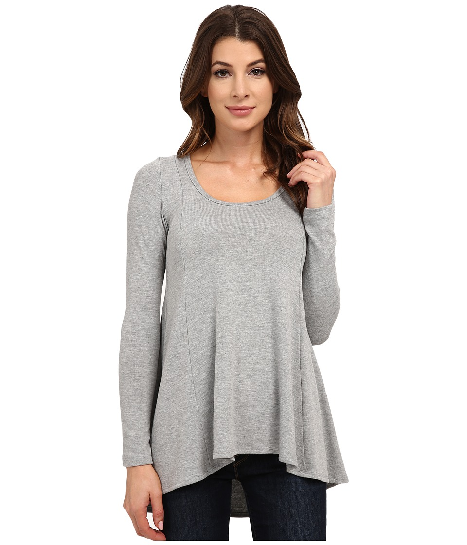 Karen Kane - Seam Detail Sweater (Light Heather Grey) Women