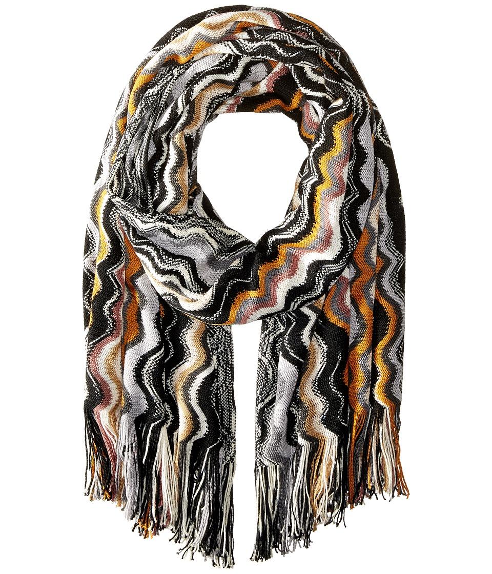Missoni - SA71WOD5179 (Grey/Black/Pumpkin) Scarves