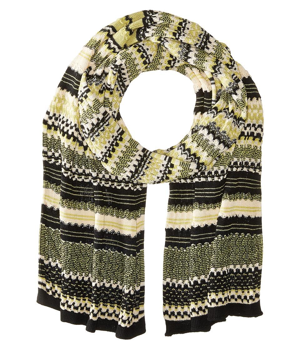 Missoni - SC12WMD5212 (Black/Green/White) Scarves