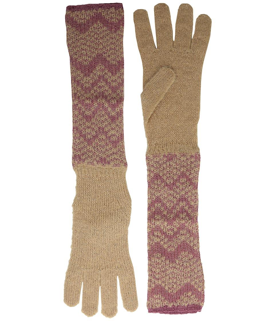 Missoni - GUL6WMD4580 (Nude/Pink) Wool Gloves