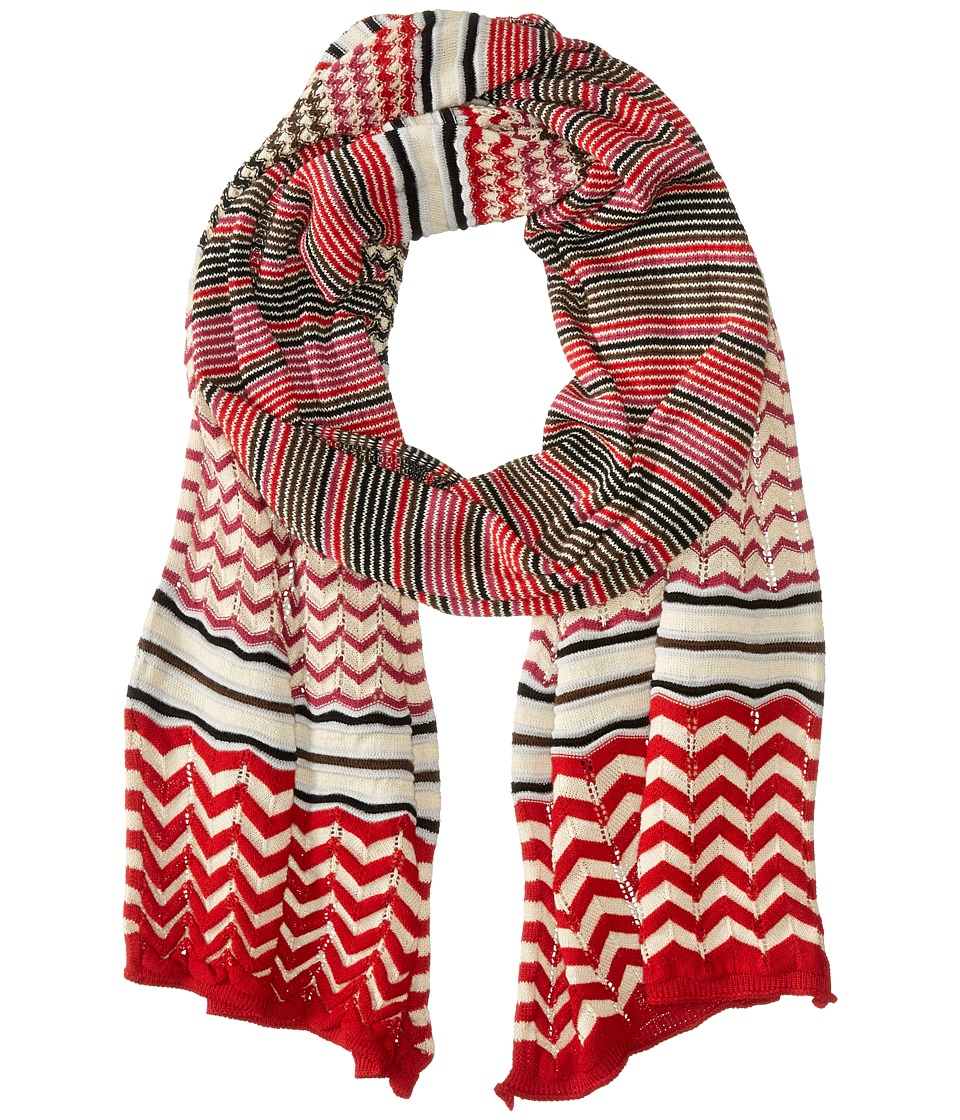 Missoni - SC12WMD5213 (Red/Pink) Scarves