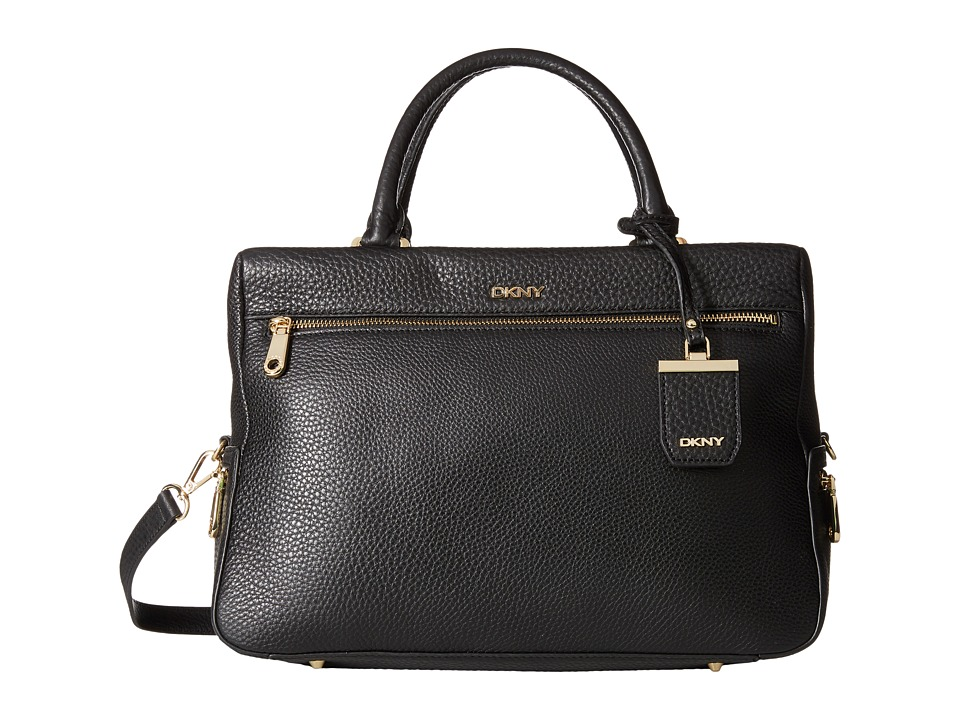 DKNY - Tribeca Large Satchel (Black) Satchel Handbags