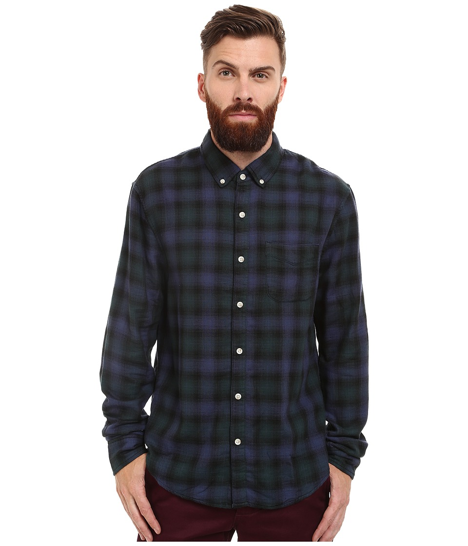 Joe's Jeans - Slim Fit Shirt (Navy/Forest Plaid) Men's Clothing