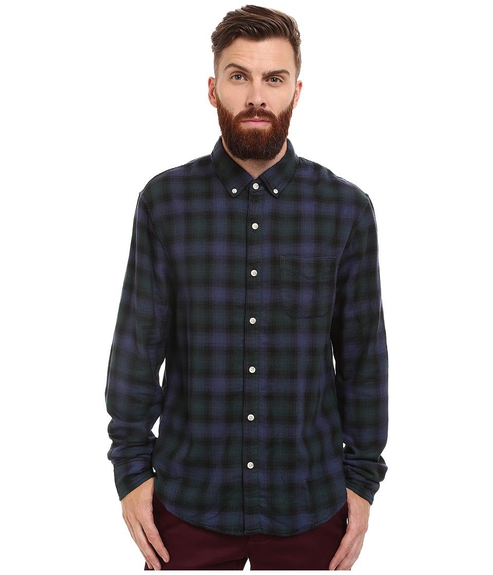Joe's Jeans - Slim Fit Shirt (Navy/Forest Plaid) Men's Clothing