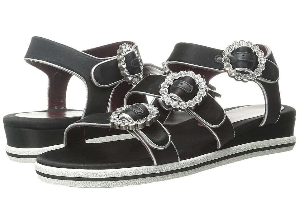 Marc by Marc Jacobs Charlotte Strass Buckle Sandal (Black) Women
