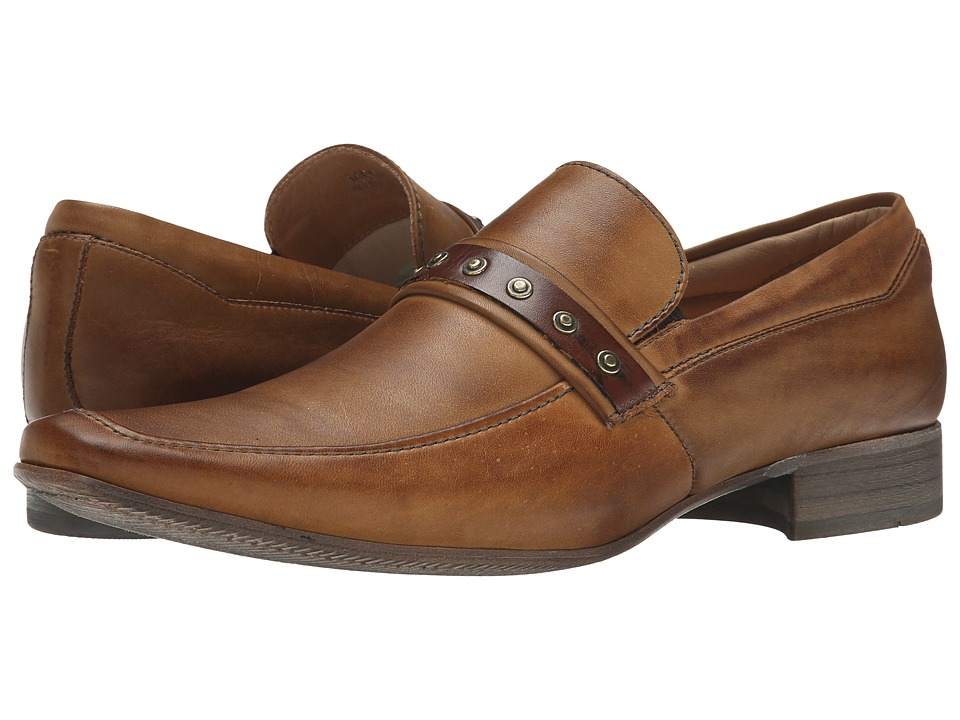 Massimo Matteo - Mocc with Studded Strap (Tan) Men's Slip-on Dress Shoes