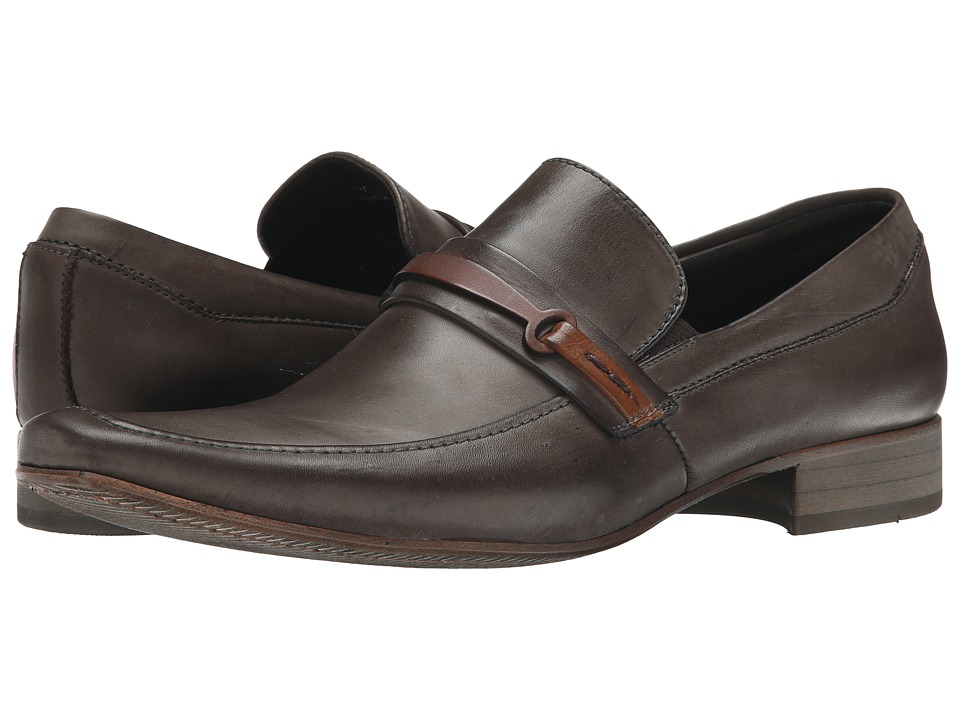 Massimo Matteo - Mocc with Bit (Mocha) Men's Slip-on Dress Shoes