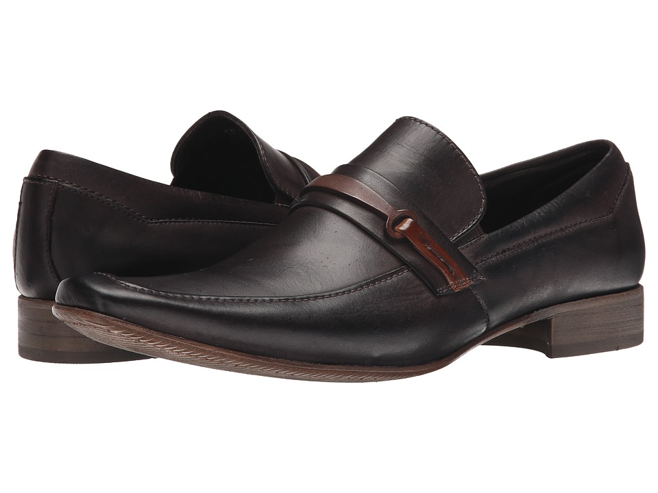 Massimo Matteo - Mocc with Bit (Brown) Men's Slip-on Dress Shoes