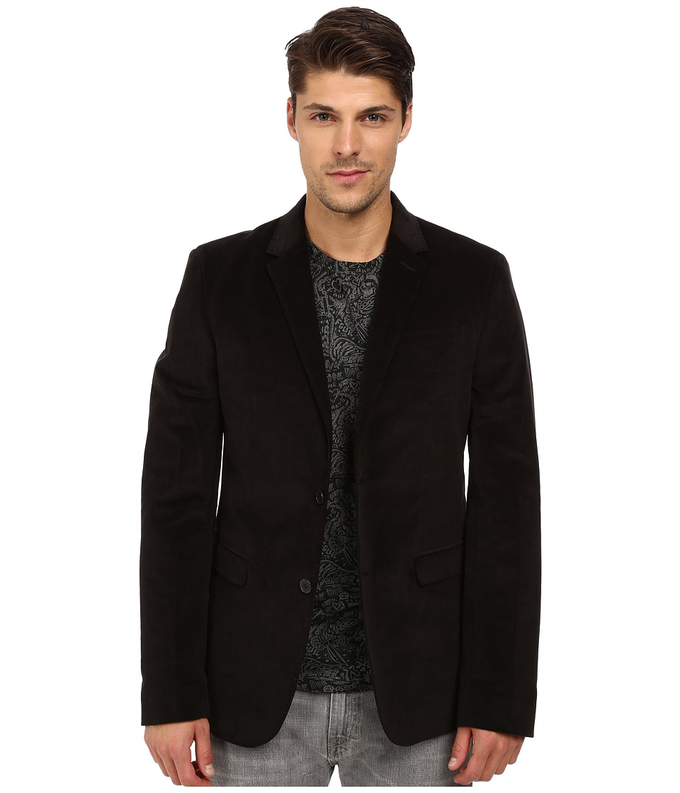 French Connection - Velvet Overload Jacket (Black) Men's Coat