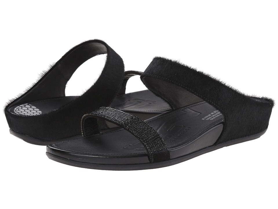 FitFlop Banda Micro-Crystal Slide (Black) Women