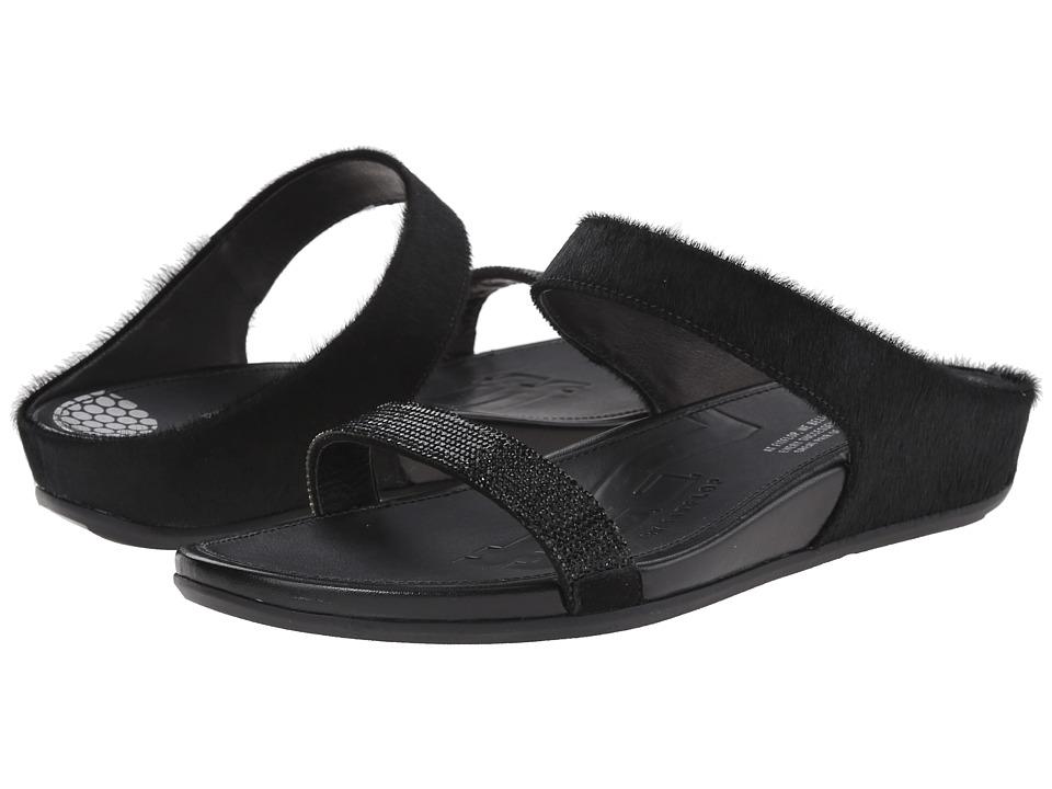 FitFlop - Banda Micro-Crystal Slide (Black) Women's Shoes