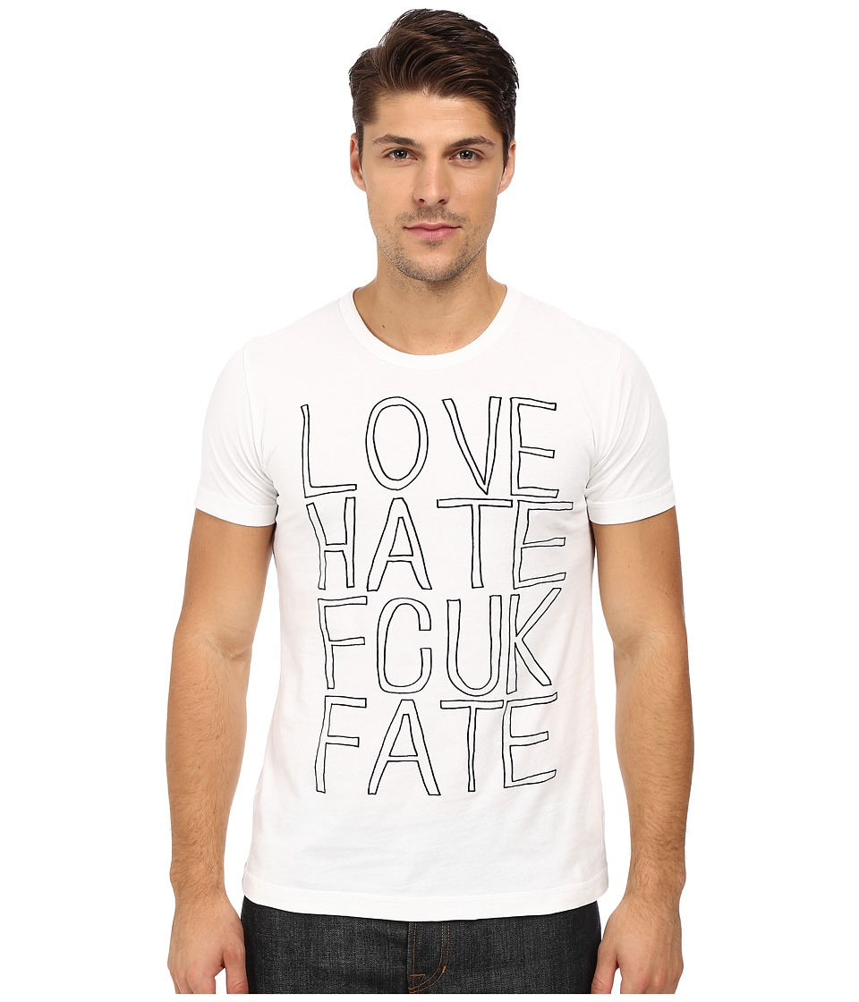 French Connection - Fcuk Fate Tee (Optic White/Black) Men's T Shirt