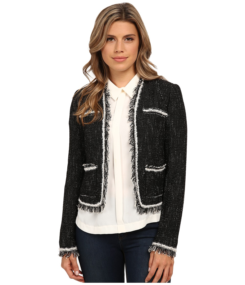 Rebecca Taylor - Stretch Rio Tweed Jacket (Black) Women's Coat