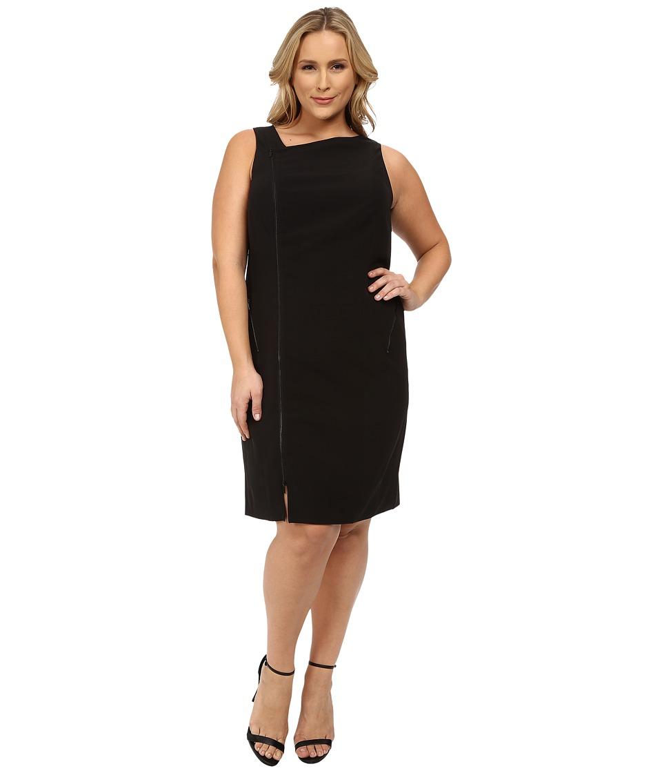 Mynt 1792 Plus Size Moto Dress (Black) Women