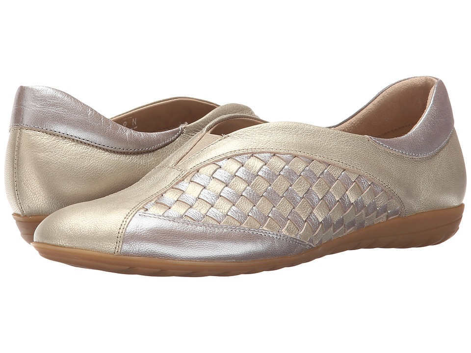 Sesto Meucci - Barbro (Co3 Pale Platino Jersey Metallic/Jersey Metallic/Silver Jersey) Women's Slip on Shoes