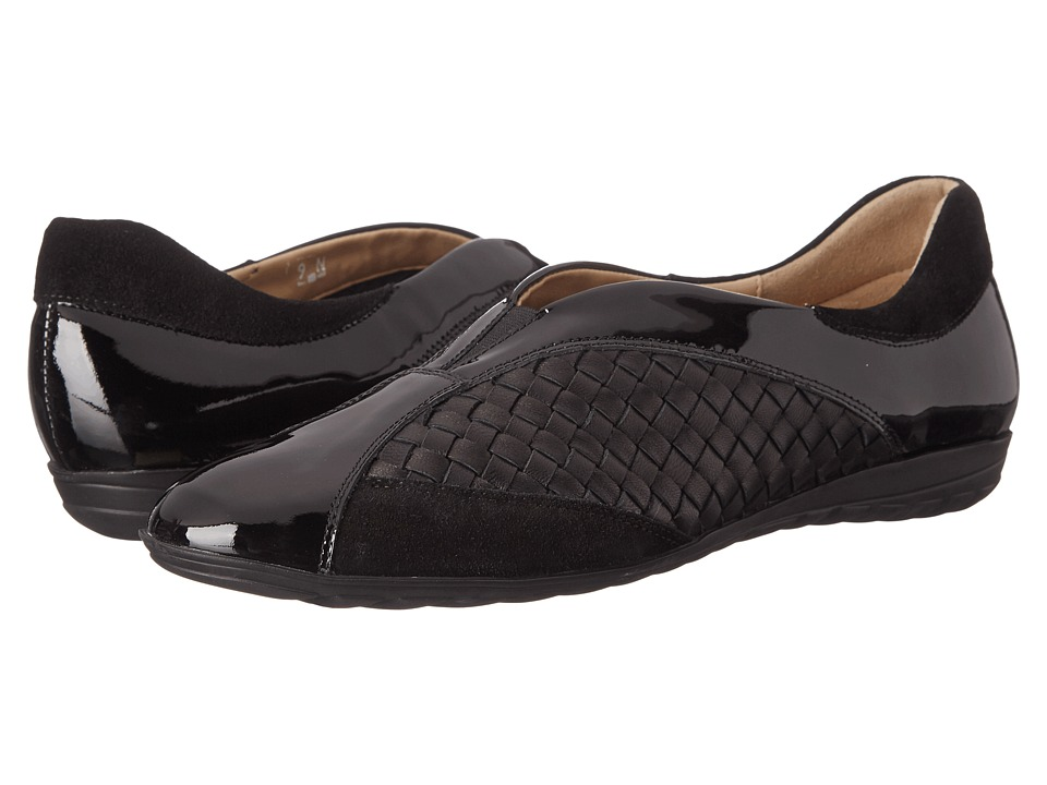 Sesto Meucci - Barbro (Co1 Black Patent/Black Nappa/Calf Suede) Women's Slip on Shoes