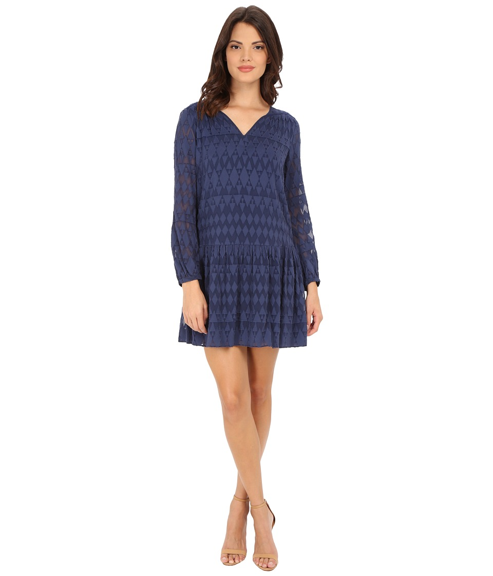 Rebecca Taylor - Ice Cap Fil Coupe Dress (Midnight Blue) Women's Dress