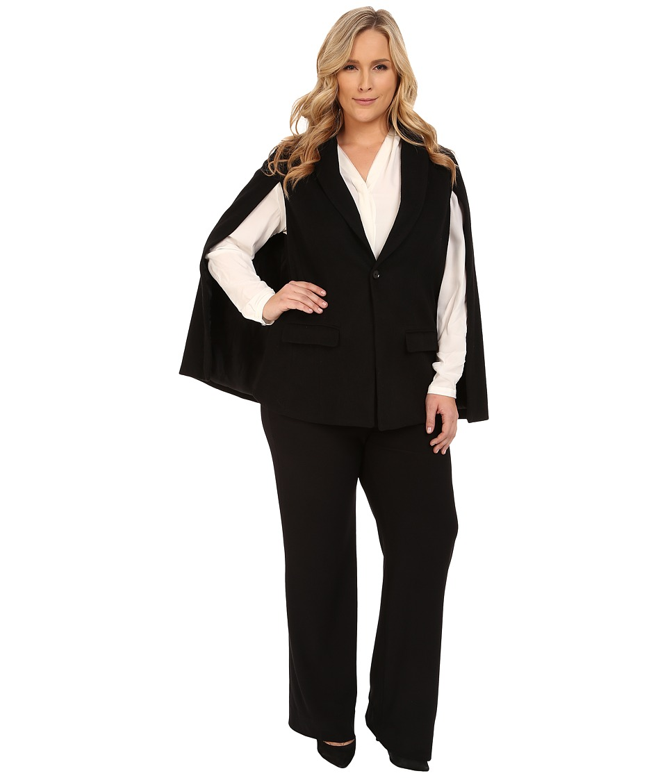 Mynt 1792 - Plus Size Blazer Cape (Black) Women's Jacket
