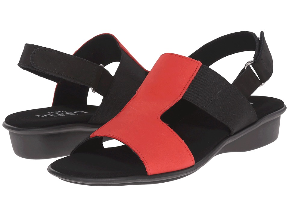 Sesto Meucci - Eudore (Red Nabuk/Black Nabuk/Black Elastic Co3) Women's Sandals