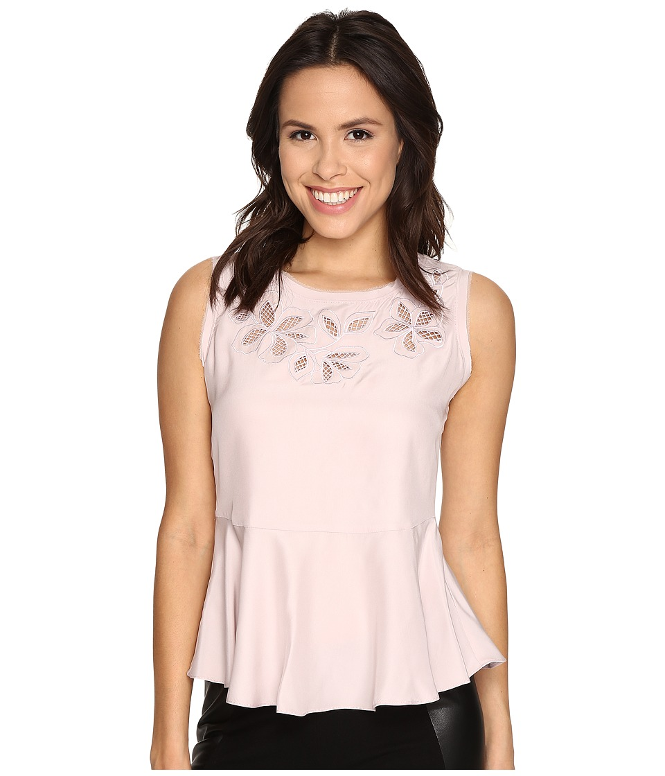 Rebecca Taylor - Floral Cutout Top (Shell Pink) Women's Blouse