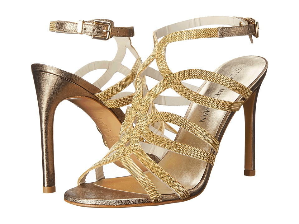 Stuart Weitzman Bridal & Evening Collection - Twisto (Oro Chains) Women's Bridal Shoes