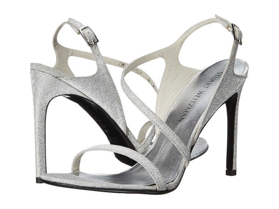 Stuart Weitzman Bridal & Evening Collection - Sensual (Argento Glitterati) Women's Bridal Shoes