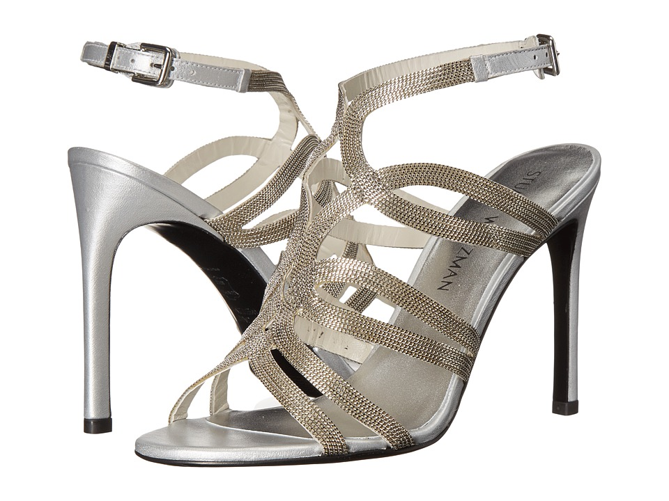 Stuart Weitzman Bridal & Evening Collection - Twisto (Silver Chains) Women's Bridal Shoes