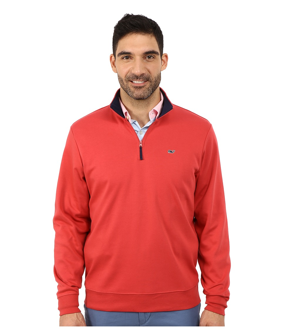 Vineyard Vines - Whale Jersey Quarter Zip (Firecracker) Men's Clothing