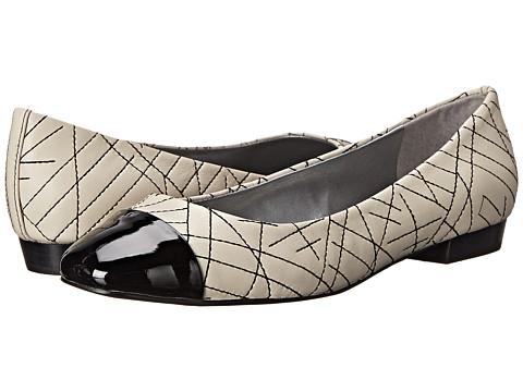 Tahari - Imani (Warm White/Black Sheep/Patent) Women's Slip on Shoes