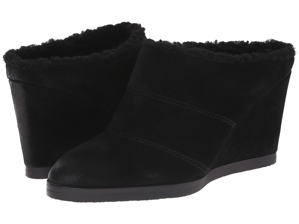 Tahari - Spencer (Black Burnised Calf Suede) Women's Wedge Shoes