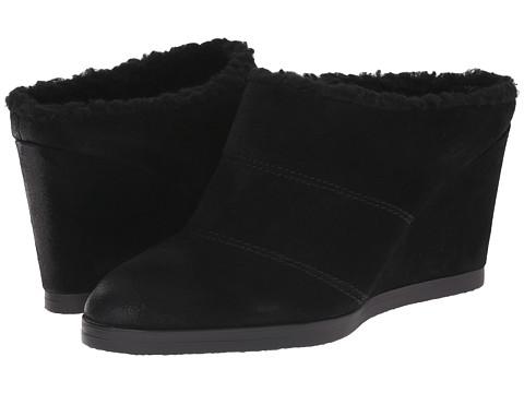 Tahari - Spencer (Black Burnised Calf Suede) Women's Wedge Shoes