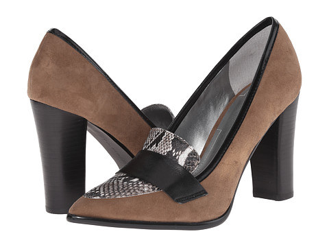 Tahari - Aimee (Cabin Taupe/Black/White Kid Suede/Roccia Snake Print) High Heels