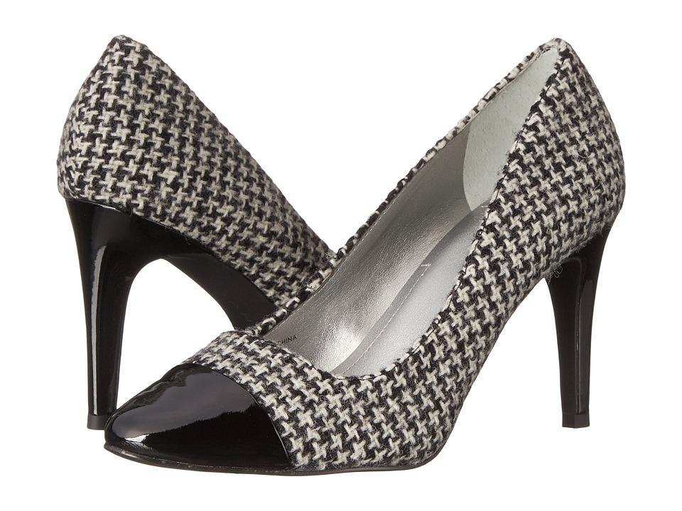 Tahari - Ryan (Black/White/Black Canaby Fabric Pol Calf) Women's Shoes