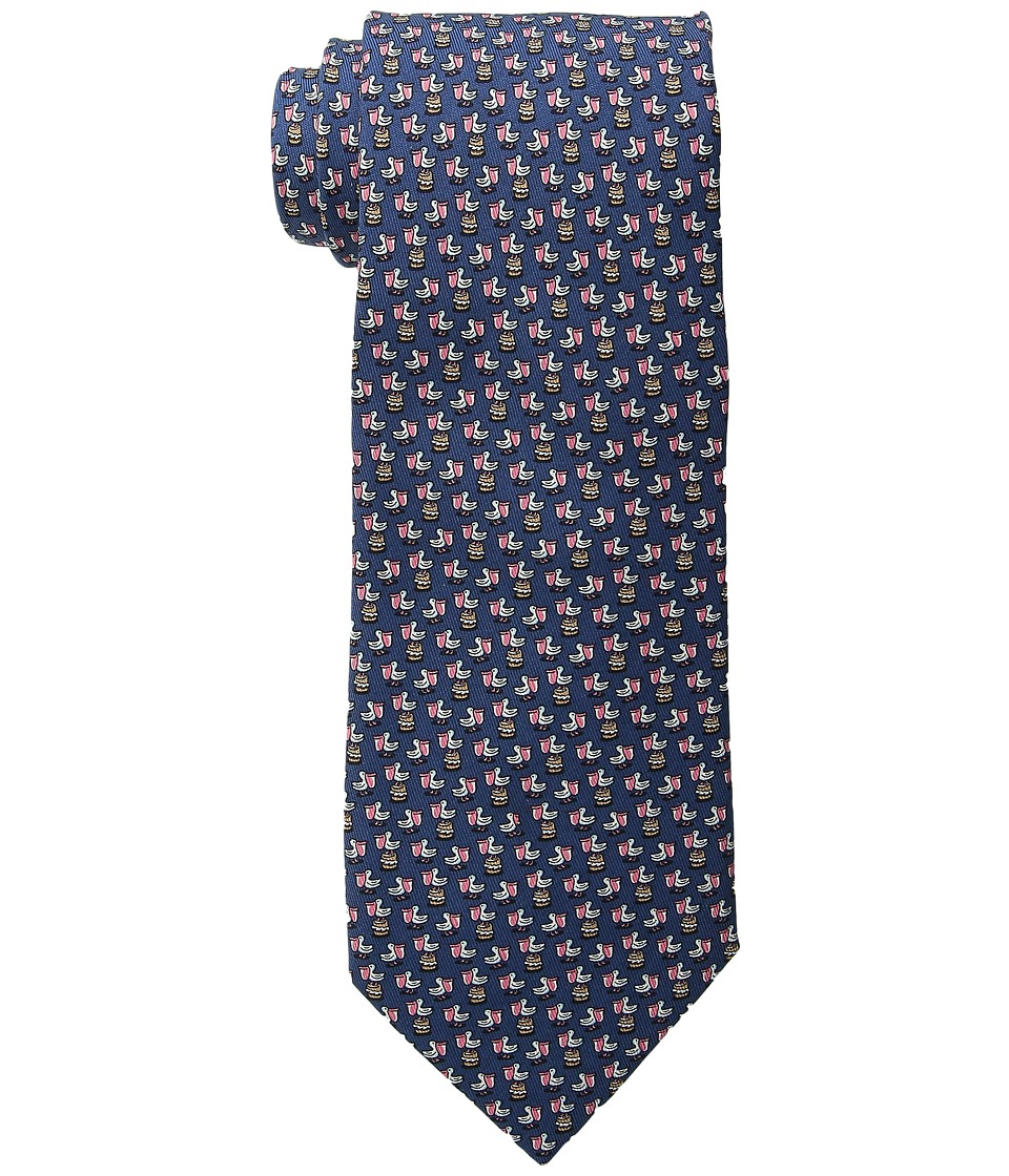 Vineyard Vines - Pelican Printed Tie (Navy) Ties