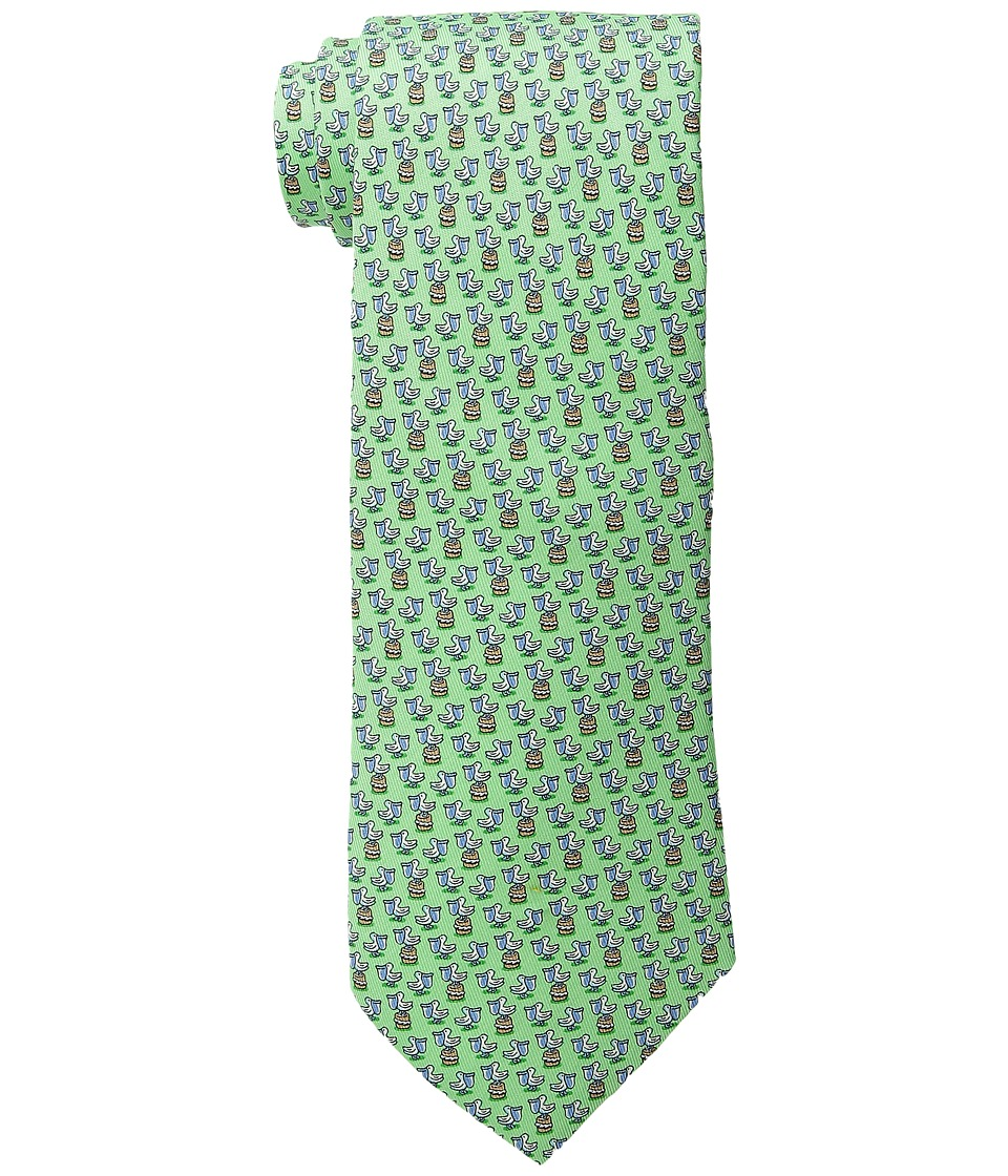 Vineyard Vines - Pelican Printed Tie (Green) Ties