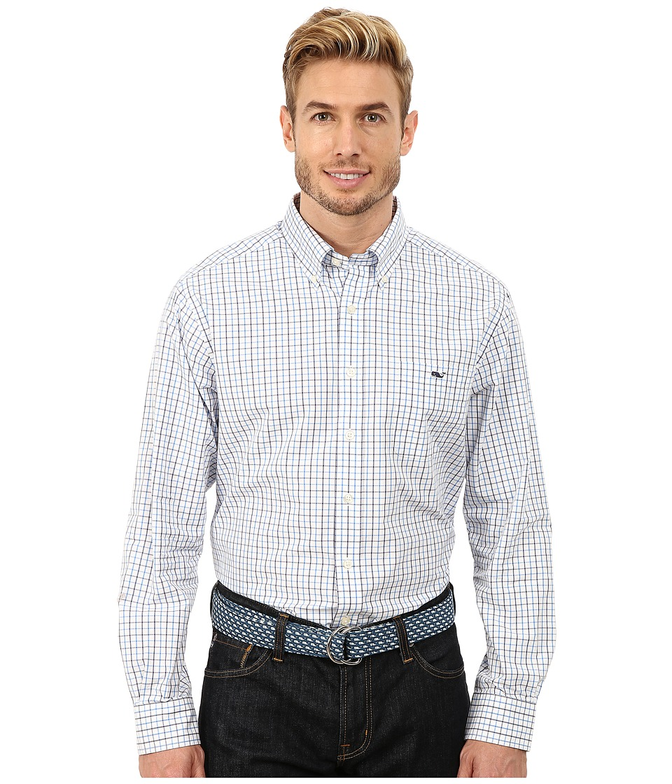 Vineyard Vines - Slim Tucker Shirt - Folly Check (Harbor Cay) Men's Long Sleeve Button Up