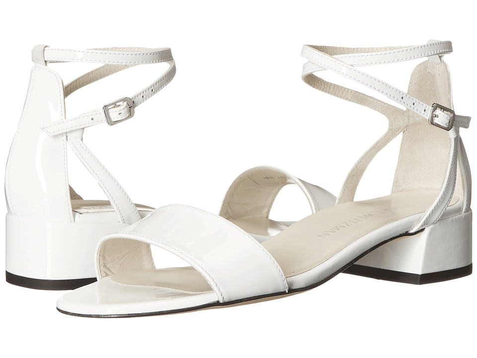 Stuart Weitzman Peewee White Patent Womens Shoes