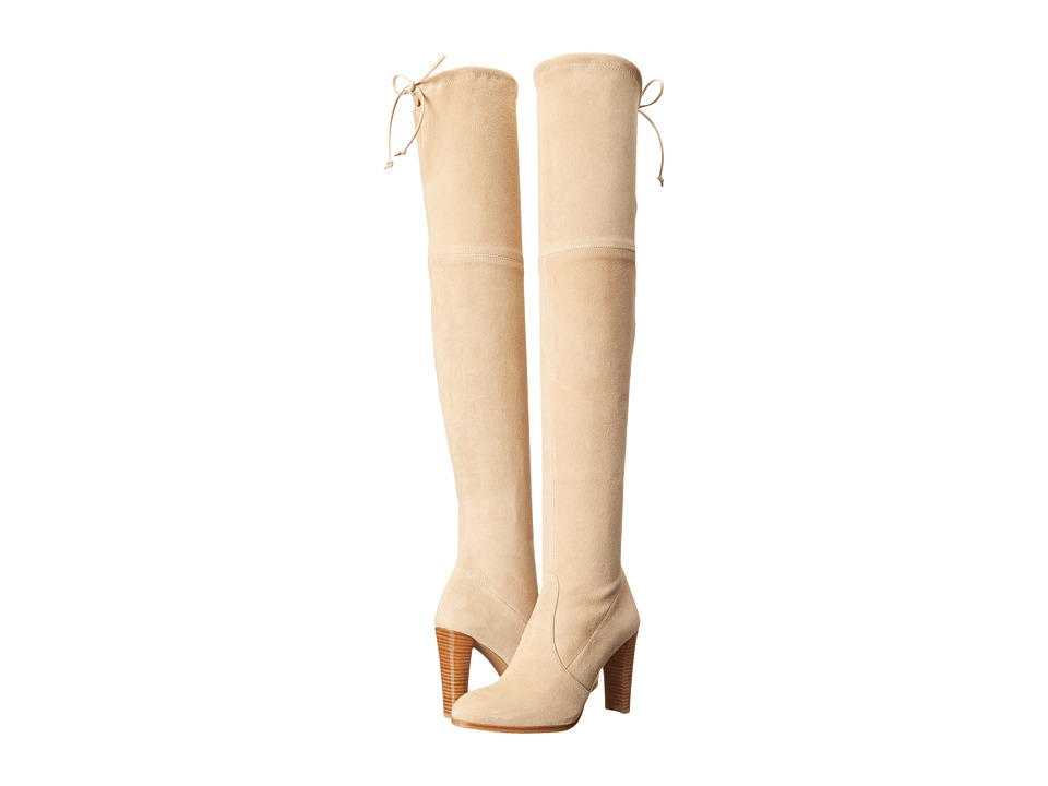 Stuart Weitzman Highland Buff Suede Womens Dress Pull-on Boots