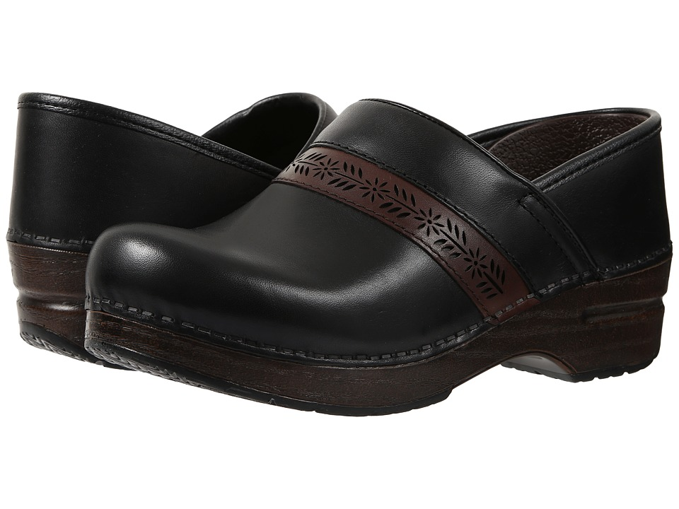 Dansko - Penny (Black Full Grain) Women's Clog Shoes