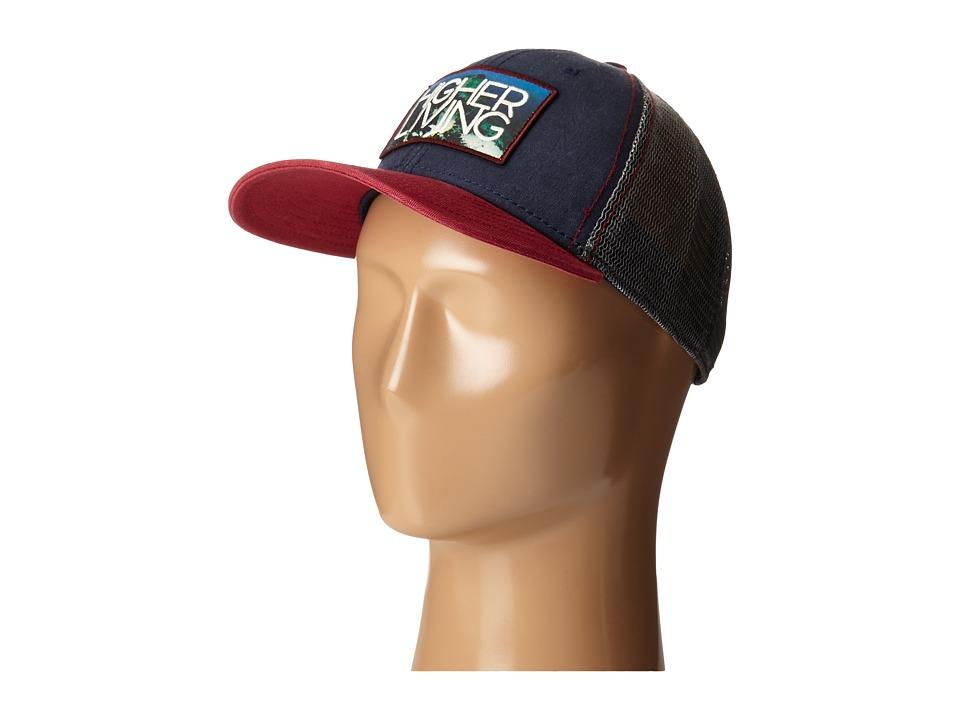 Prana - Higher Living Trucker Hat (Navy) Caps