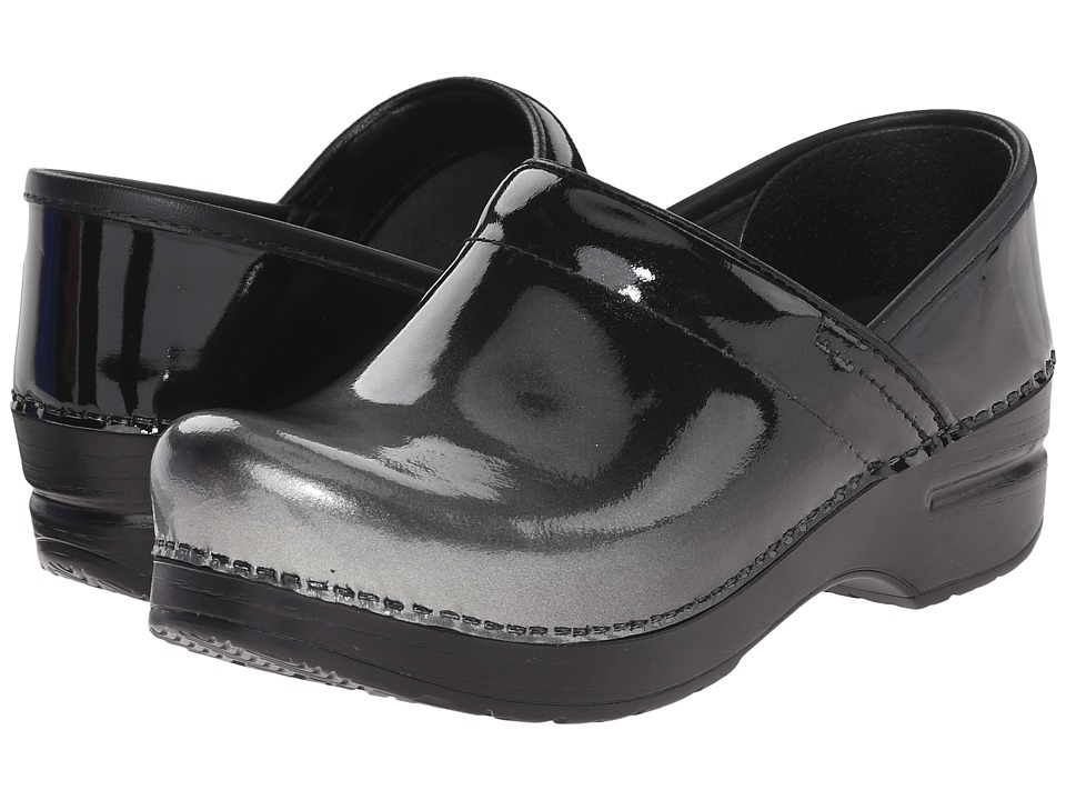 Dansko - Professional (Grey Ombre Patent) Women's Clog Shoes