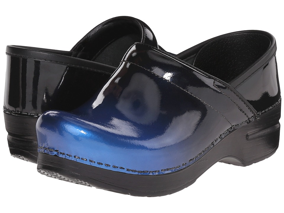 Dansko - Professional (Blue Ombre Patent) Women's Clog Shoes