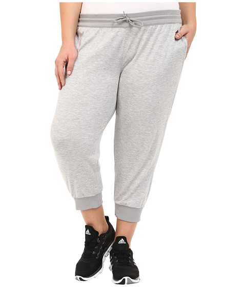 adidas - 2Love Cuffed Capris (Medium Grey Heather/DGH Solid Grey) Women's Capri